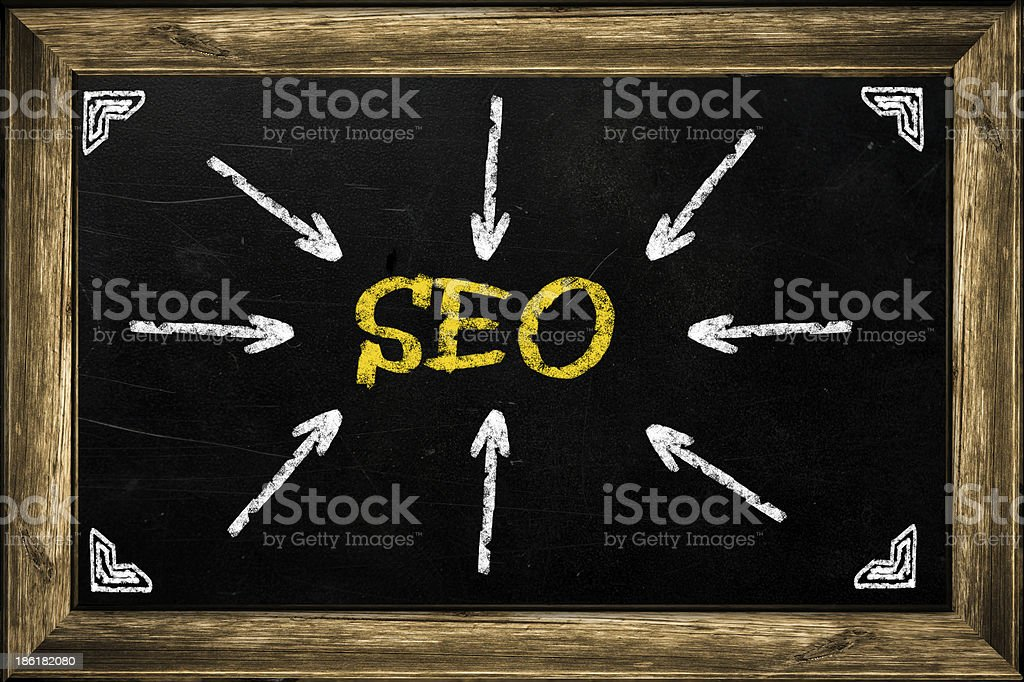 Business access the Seo on chalkboard royalty-free stock photo