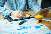 istock Business accounting and finance analyzing concept 1174679761