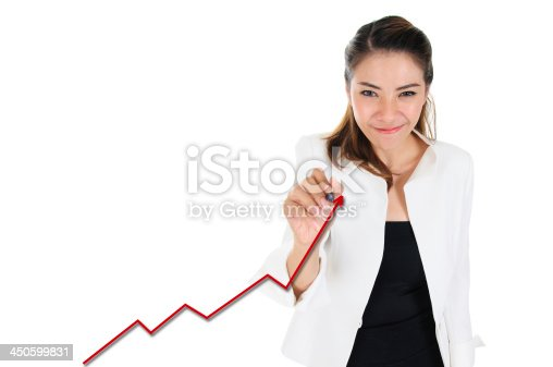 istock Business achievement present by increasing graph 450599831