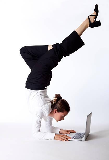 business acrobatics stock photo