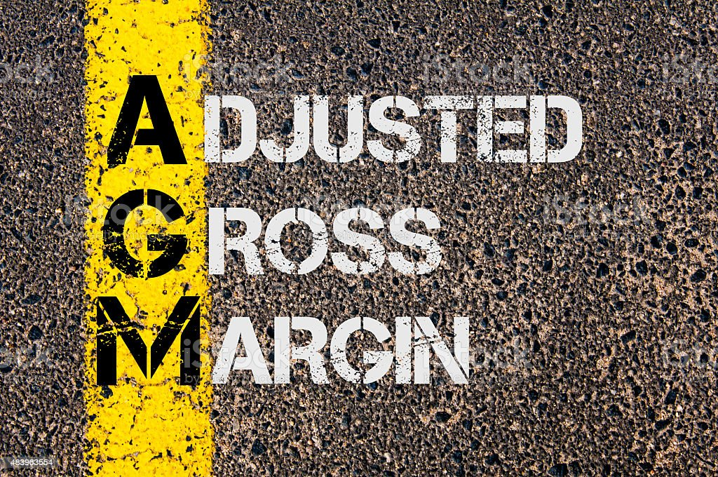 Business Acronym AGM as Adjusted Gross Margin stock photo