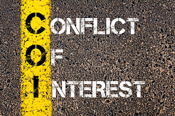 business acronym coi as conflict of interest - interest rate stock photos and pictures