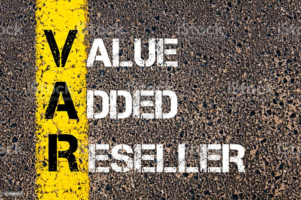 Business Acronym VAR as Value Added Reseller stock photo