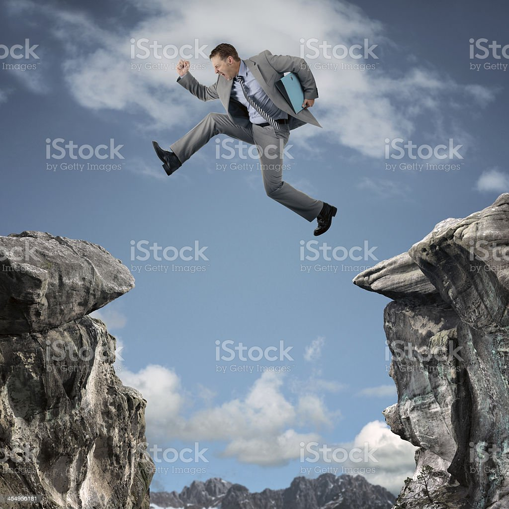 Business adversity stock photo