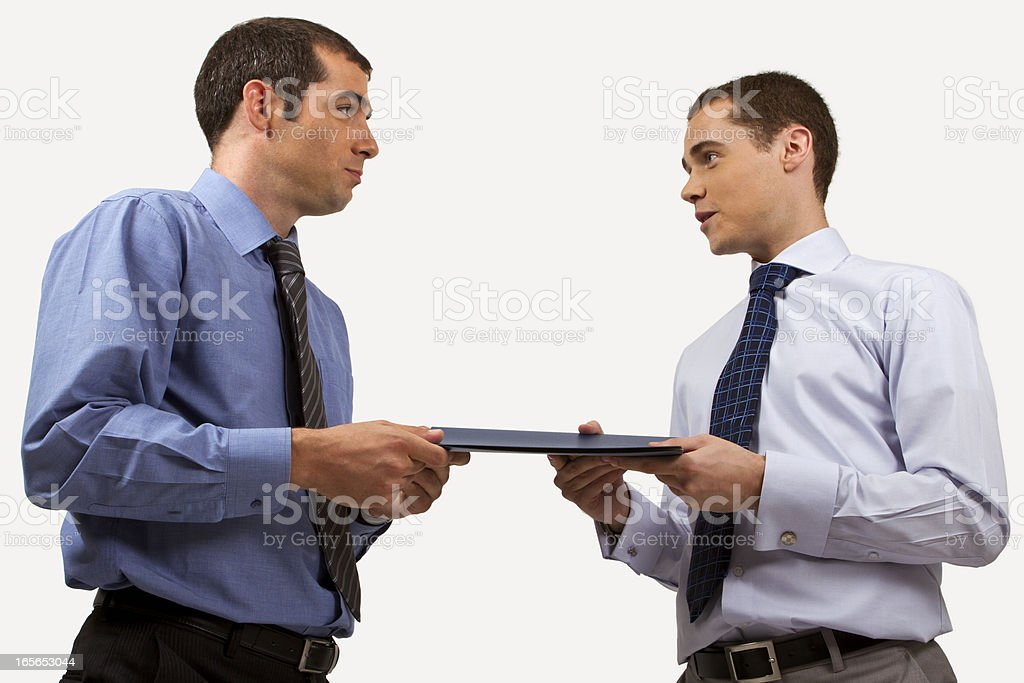 Business agreement between two partners royalty-free stock photo