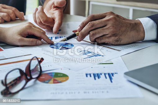 950986656istockphoto Business agreement,brainstorm concept. owner, advisors and partner discussing  meeting financial on table office. 951833010