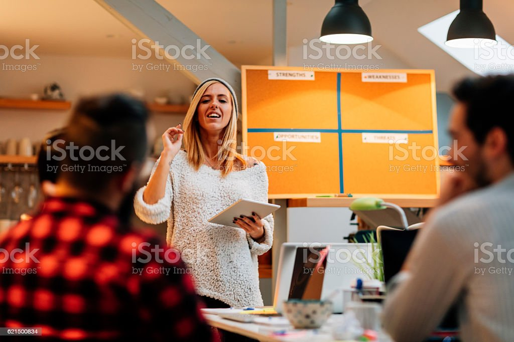 Business Analyses in their Home Office. stock photo