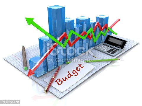 istock Business analysis, calculation of the budget 506758778