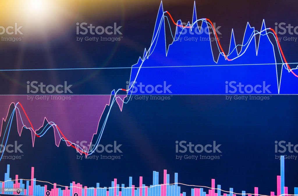 Business analysis diagram. Finance background data graph royalty-free stock photo