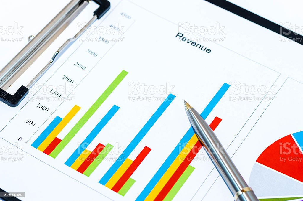 Business analysis image, colorful graphs and charts Lizenzfreies stock-foto