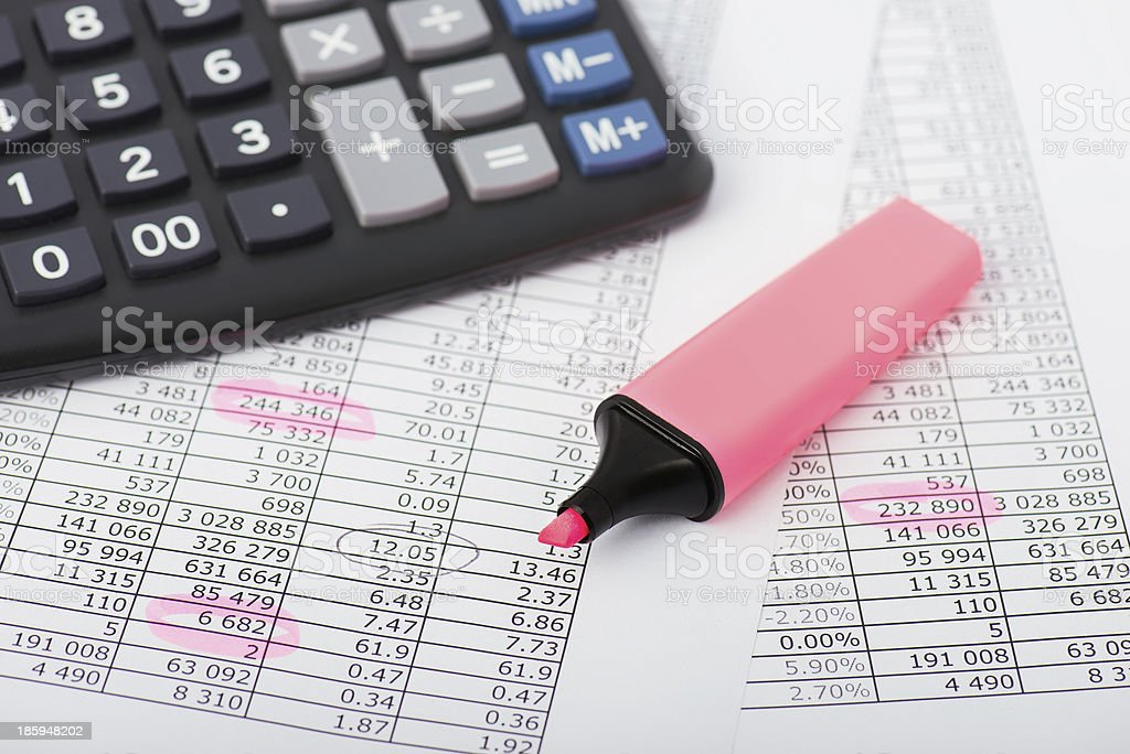 Business analysis of stock values royalty-free stock photo