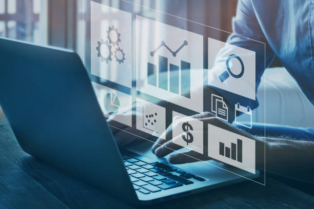 business analytics and intelligence concept stock photo
