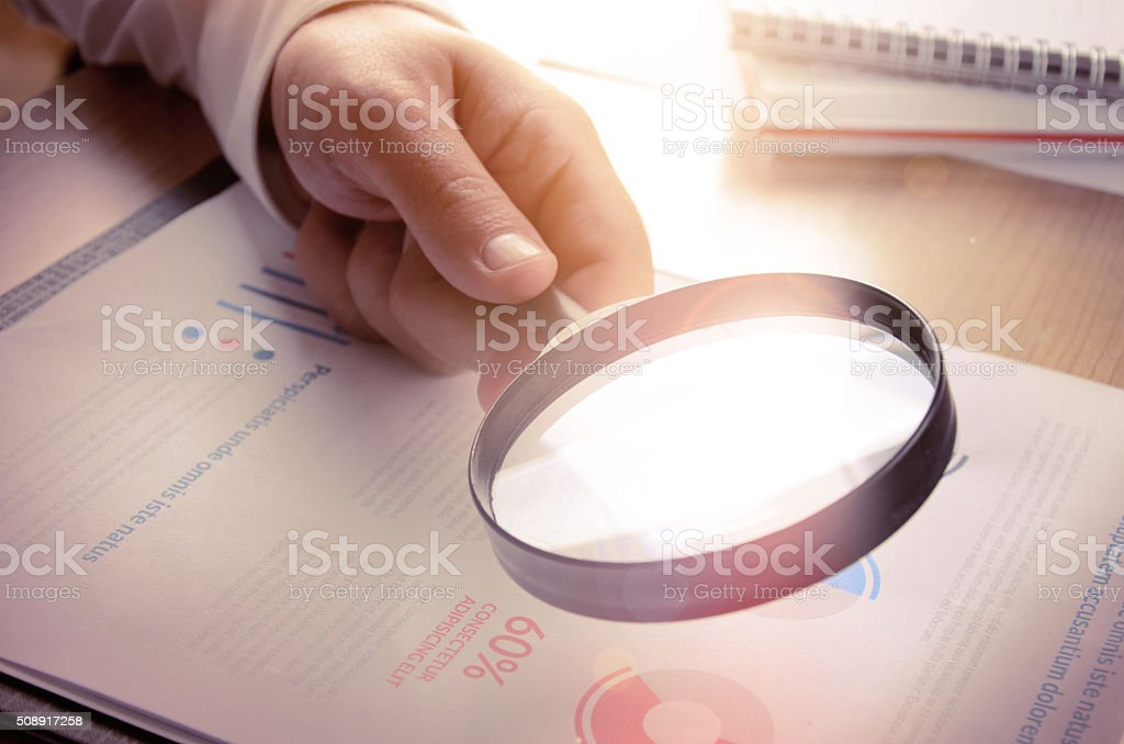 Business analytics and statistics stock photo