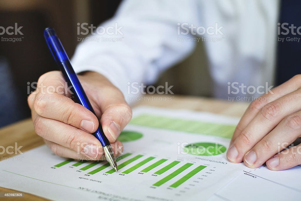 business analyze stock photo