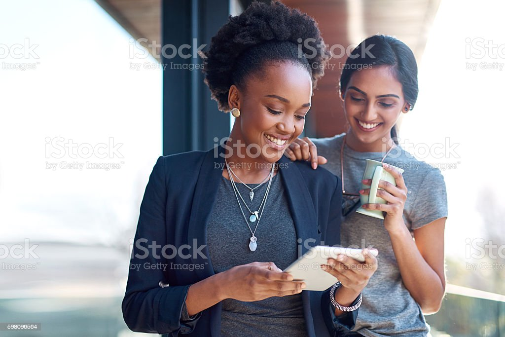Business and a bit of fresh air on their break stock photo