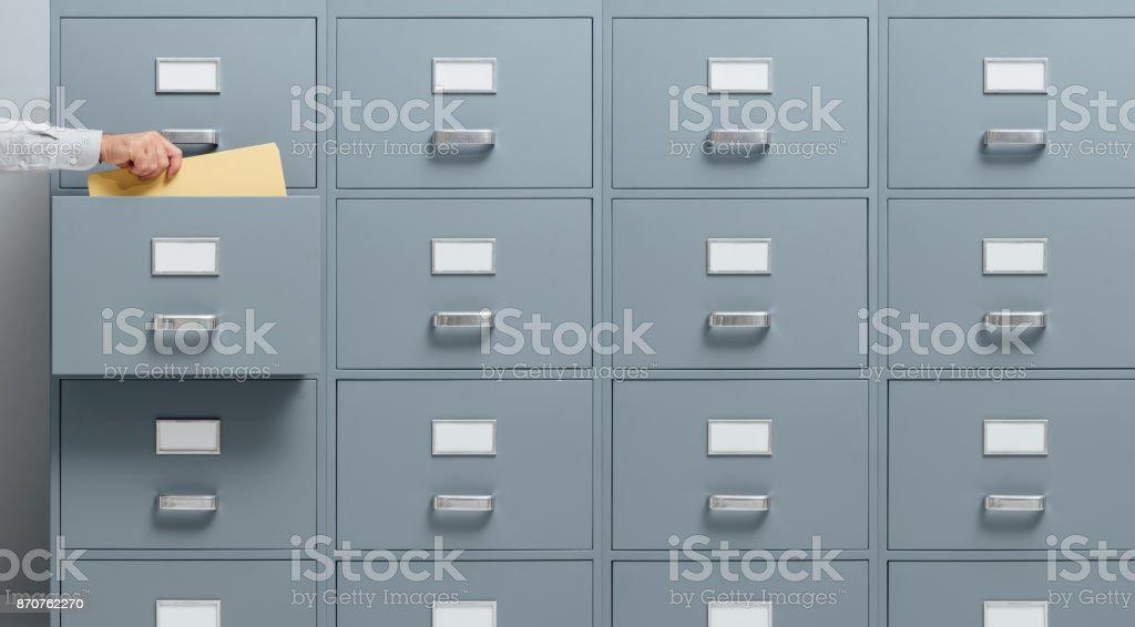Wirtschaft und Verwaltung-Konzept - Lizenzfrei Aktenschrank Stock-Foto