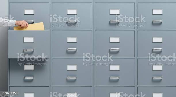 Wirtschaft Und Verwaltungkonzept Stockfoto und mehr Bilder von Aktenschrank