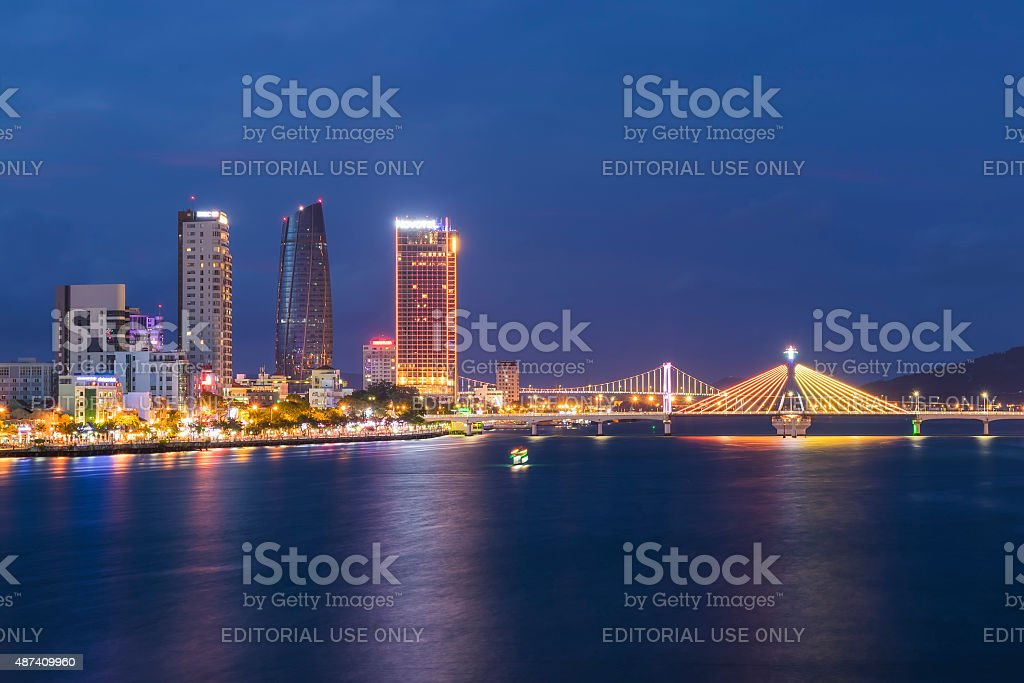 Business and Administrative District of Da Nang city stock photo