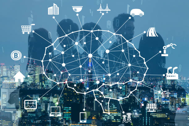 business and ai(artificial intelligence) concept. - transportation icons stock photos and pictures