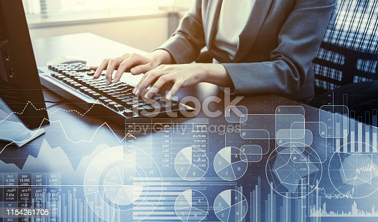 1154261912 istock photo Business and data concept. Statistics. Accontant. 1154261705