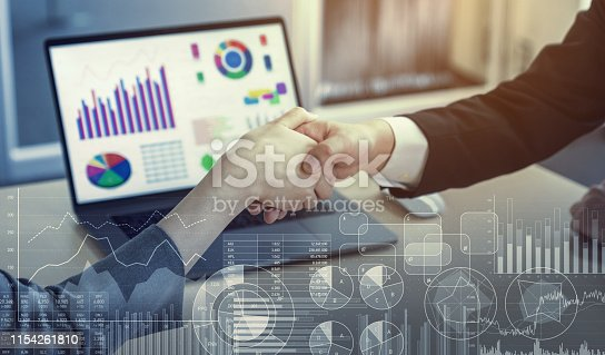 istock Business and data concept. Statistics. Accontant. 1154261810
