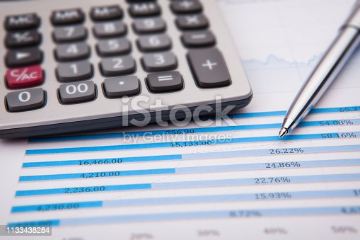 istock Business and Finance Concept: Analyzing Financial Report 1133438284