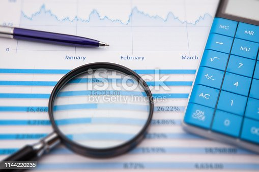 istock Business and Finance Concept: Analyzing Financial Report 1144220235
