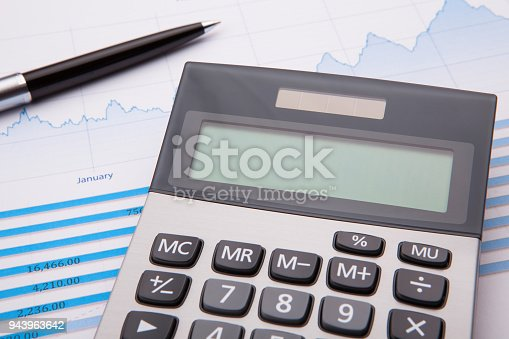 istock Business and Finance Concept: Analyzing Financial Report 943963642