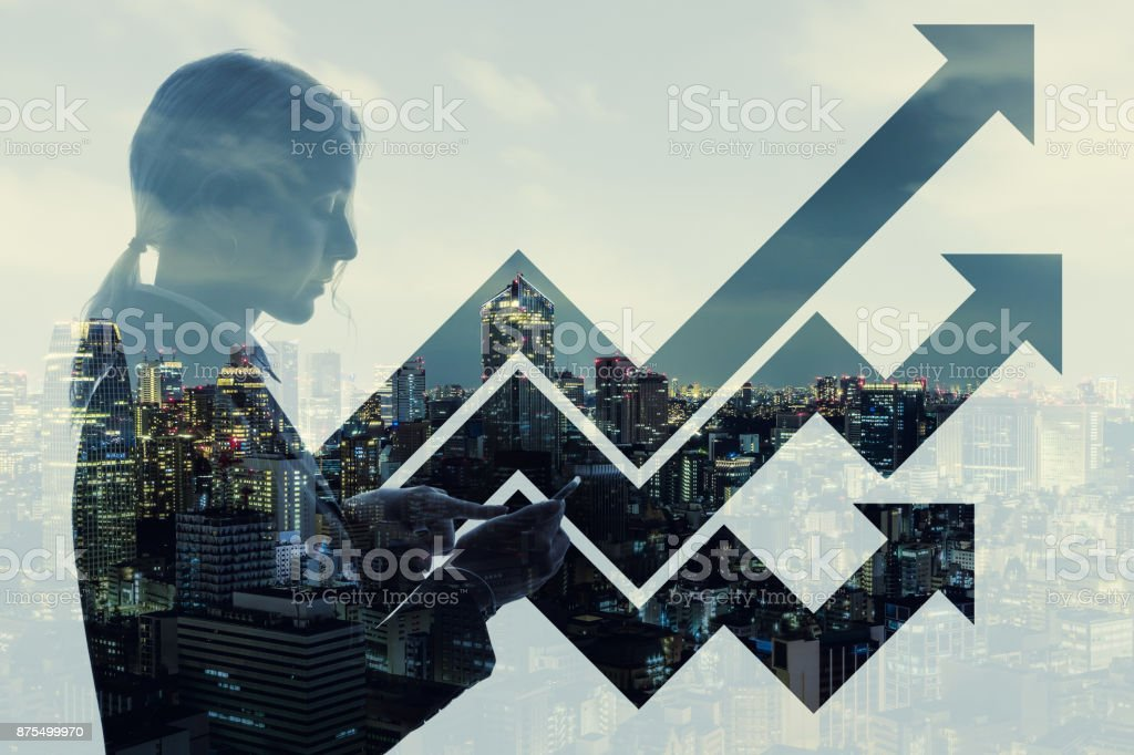 Business and growth concept. stock photo