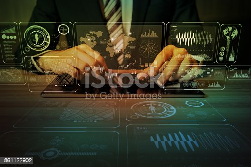 1154261912 istock photo business and information technology abstract. IoT(Internet of Things). ICT(Information Communication Network). Mixed media. 861122902