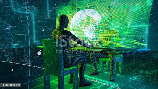 872677410 istock photo Business and information technology abstract. IoT Internet of Things ICT Information Communication Network  AI interface 1160109339