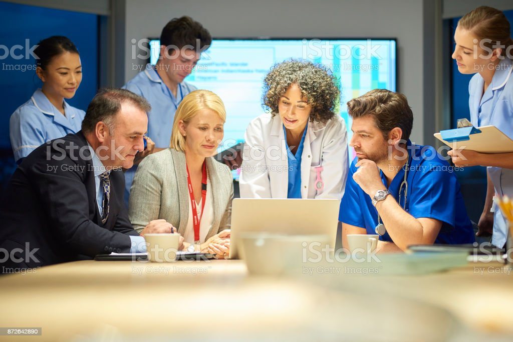 business and medicine meet stock photo