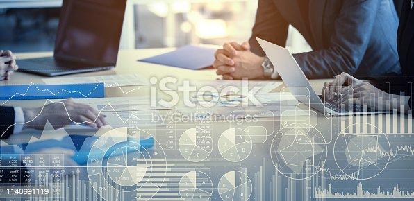 istock Business and statistics concept. Business meeting. 1140691119