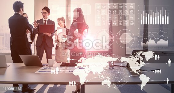 istock Business and statistics concept. Business meeting. 1140691137
