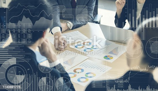 919567592 istock photo Business and statistics concept. Business meeting. 1140691773