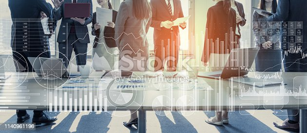 istock Business and statistics concept. Business meeting. 1140961196