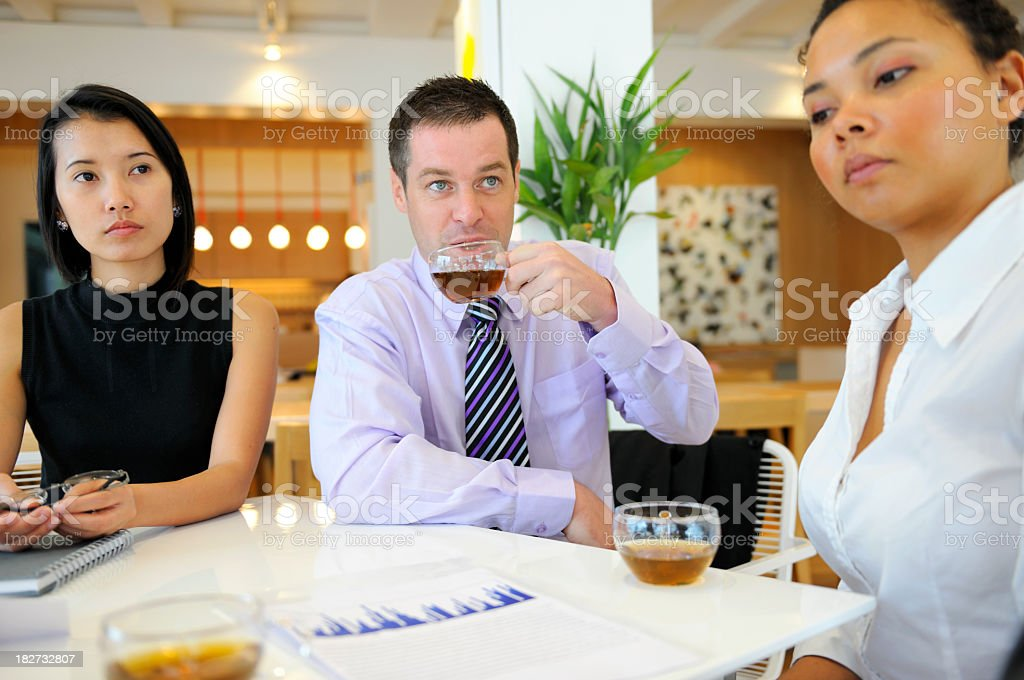 Business and Tea royalty-free stock photo