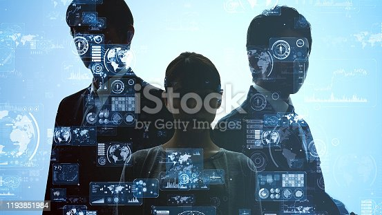 889231072istockphoto Business and technology concept. Communication network. 1193851984