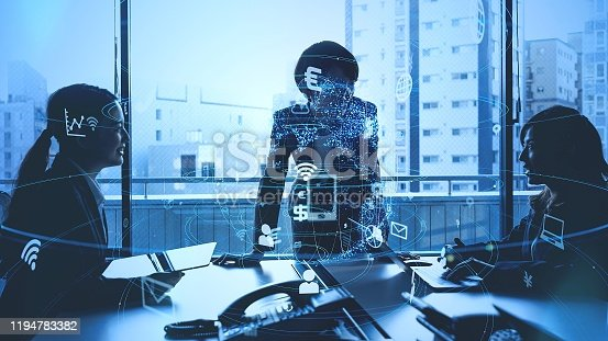 647200468 istock photo Business and technology concept. Communication network. 1194783382