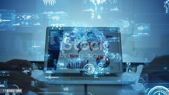 875503222 istock photo Business and technology concept. Communication network. Research. 1193851968