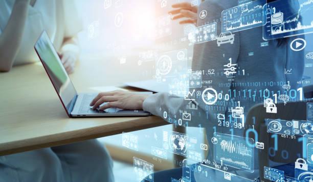 ビジネスとテクノロジーのコンセプト。データ分析。 - 情報 ストックフォトと画像