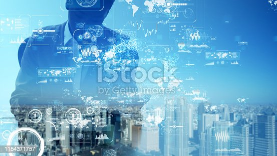 1054574034istockphoto Business and technology concept. Graphical User Interface. 1154371757