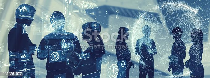 istock Business and technology concept. Group of engineer. 1154261977