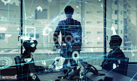istock Business and technology concept. Internet of Things(IoT). Information Communication Technology(ICT). Aritificial Intelligence(AI). 947074528