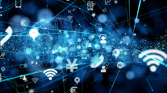 istock Business and technology concept. IoT(Internet of Things). 1129514665
