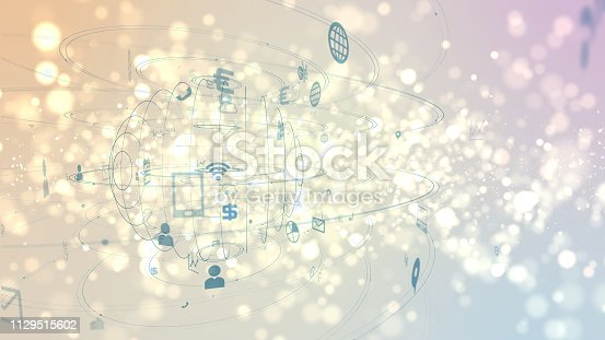 istock Business and technology concept. IoT(Internet of Things). 1129515602