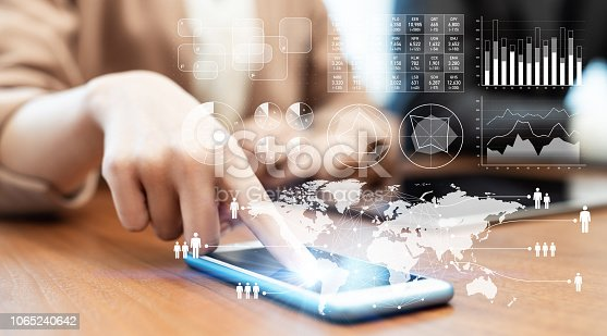 istock Business and technology concept. 1065240642