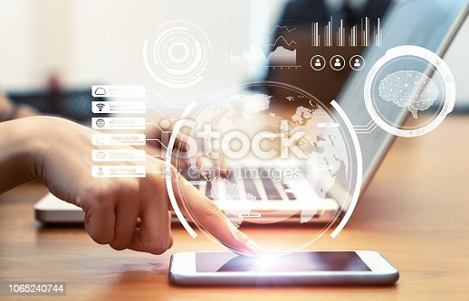 1154261912 istock photo Business and technology concept. 1065240744