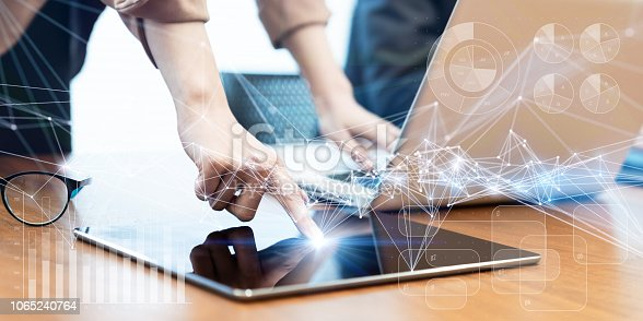 istock Business and technology concept. 1065240764