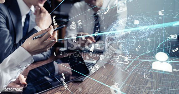 861122560 istock photo Business and technology concept. 1077027080
